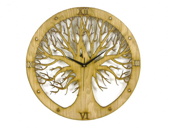 Tree Design Laser Cut Clock